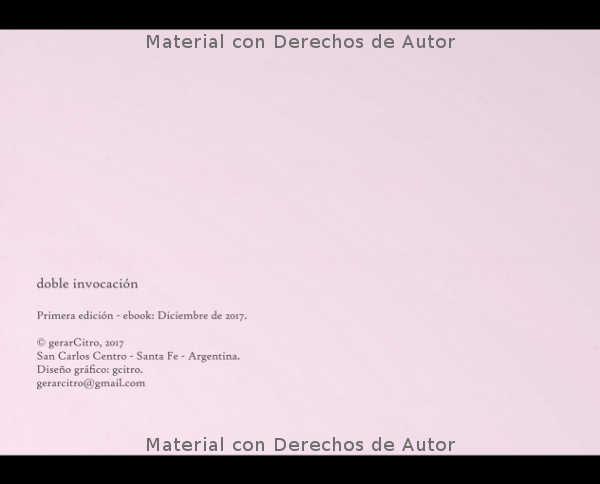 Interior del eBook: Doble Invocación de Gerardo Citroni 01