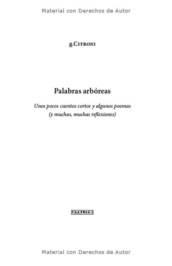 Interior del eBook: Palabras Arbóreas de Gerardo Citroni 01