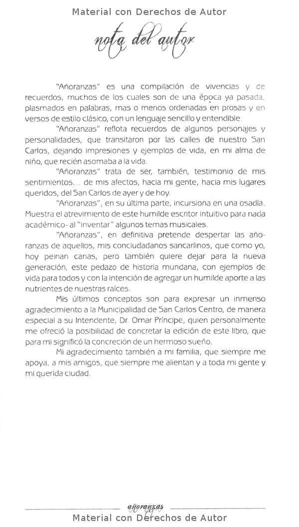 Interior del Libro: Añoranzas de Ricardo Ubait 03