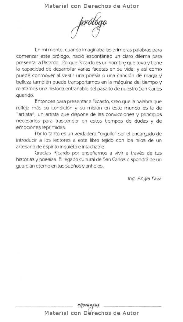 Interior del Libro: Añoranzas de Ricardo Ubait 04