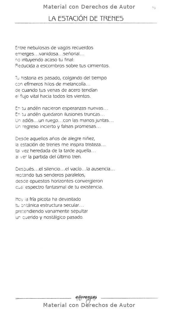Interior del Libro: Añoranzas de Ricardo Ubait 05