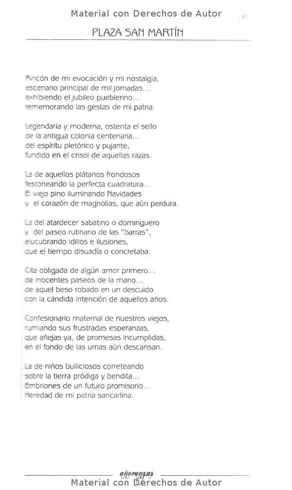 Interior del Libro: Añoranzas de Ricardo Ubait 07
