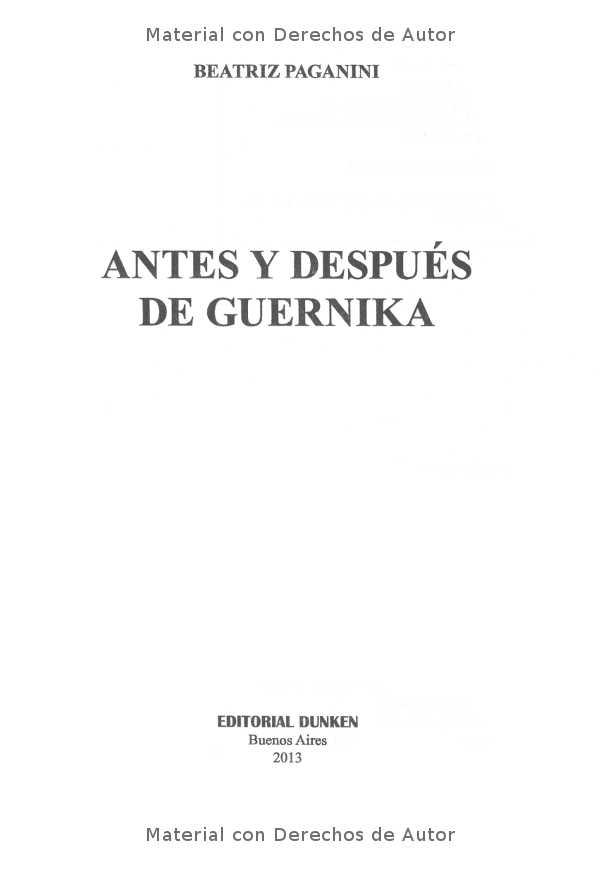 Interior del Libro: Antes y Después del Guernica de Beatriz Paganini 01