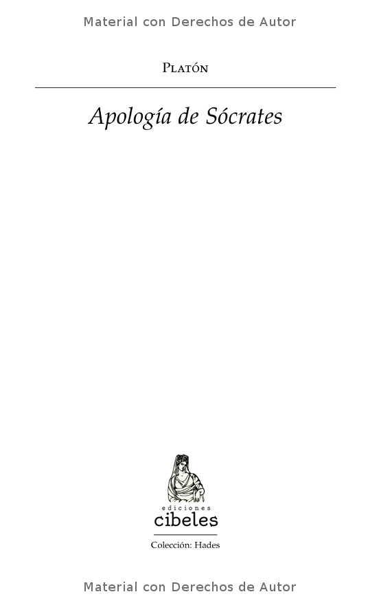 Interior del libro: Apología de Sócrates de Platón 01