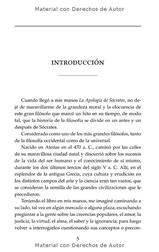 Interior del libro: Apología de Sócrates de Platón 03