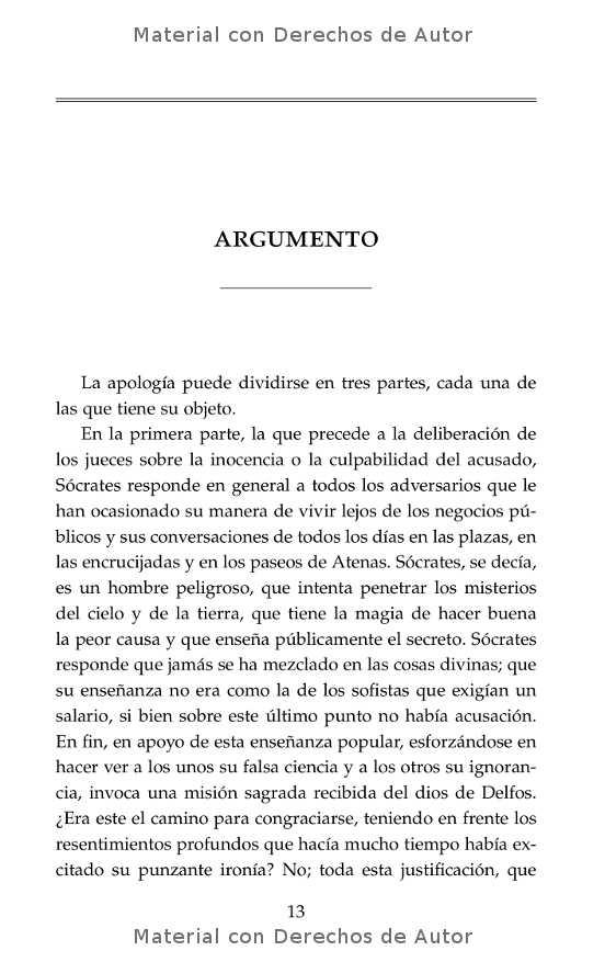 Interior del libro: Apología de Sócrates de Platón 04