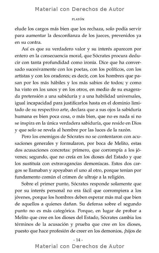Interior del libro: Apología de Sócrates de Platón 05