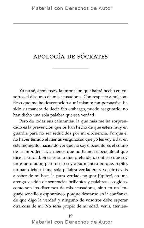 Interior del libro: Apología de Sócrates de Platón 06