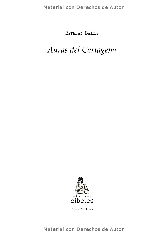 Interior del Libro: Auras del Cartagena de Esteban Balza 01