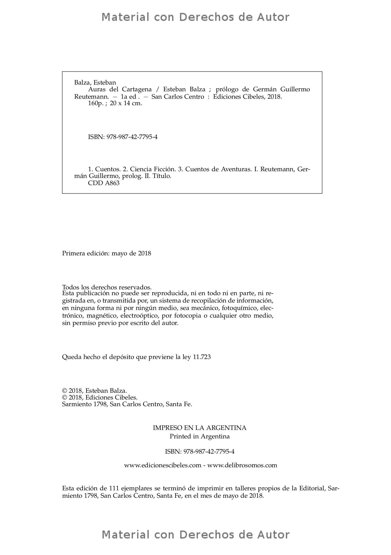 Interior del Libro: Auras del Cartagena de Esteban Balza 02