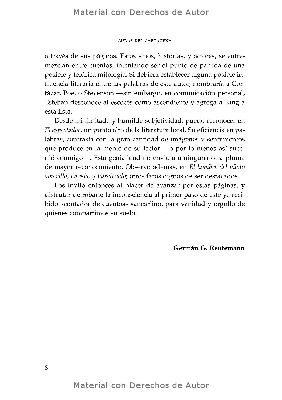 Interior del Libro: Auras del Cartagena de Esteban Balza 04