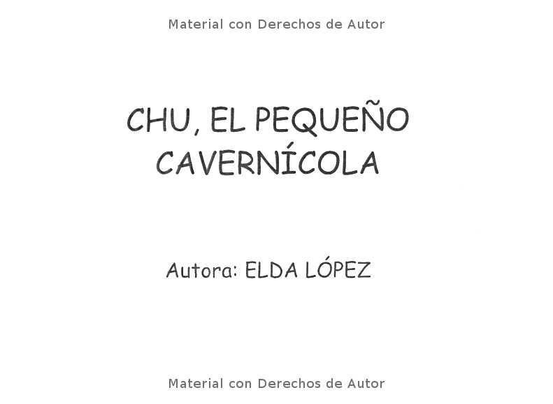 Interior del Libro: Chu el pequeño cavernícola de Elda López 01
