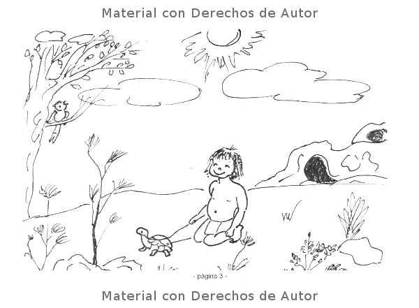 Interior del Libro: Chu el pequeño cavernícola de Elda López 02
