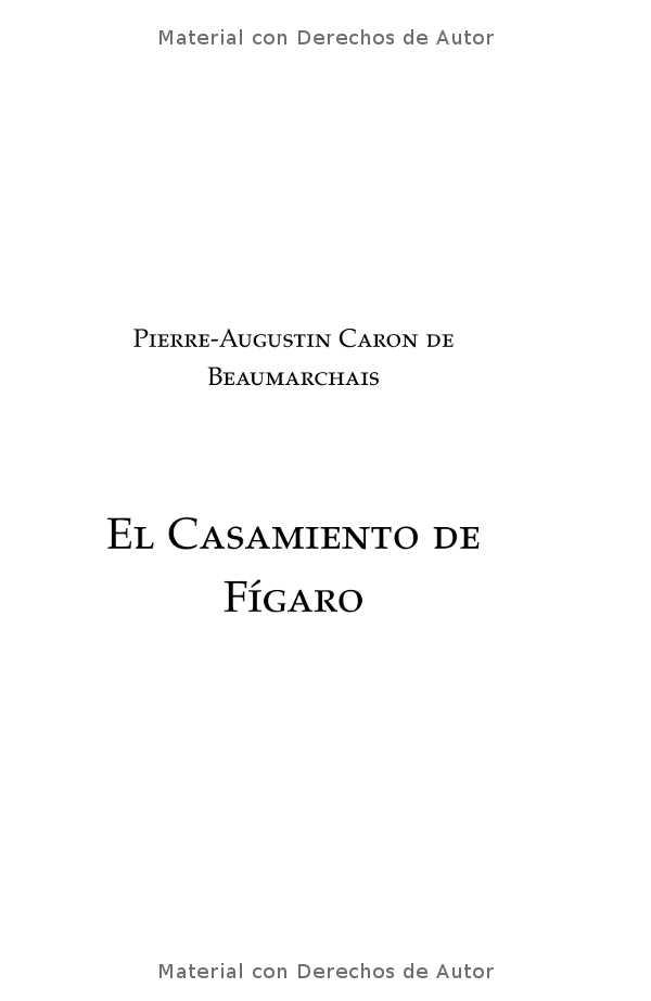 Interior del libro: El Casamiento de Fígaro de Beaumarchais 01