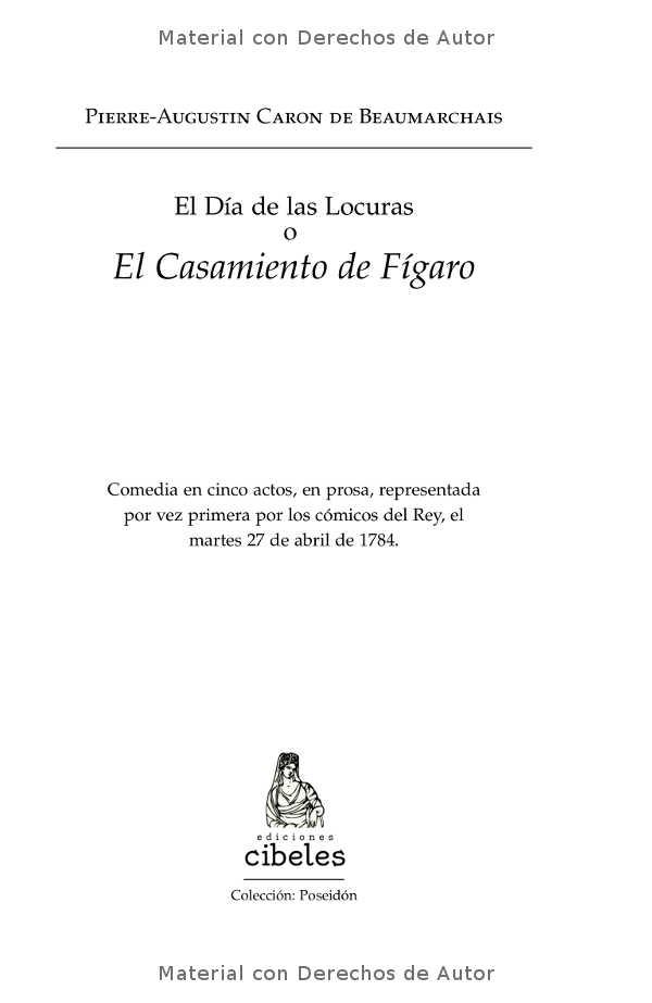 Interior del libro: El Casamiento de Fígaro de Beaumarchais 02