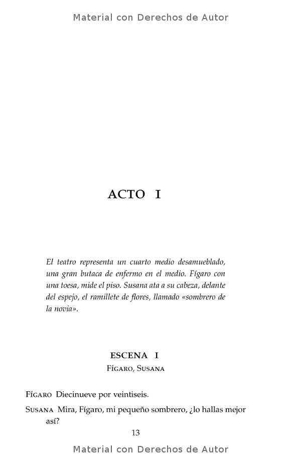 Interior del libro: El Casamiento de Fígaro de Beaumarchais 05