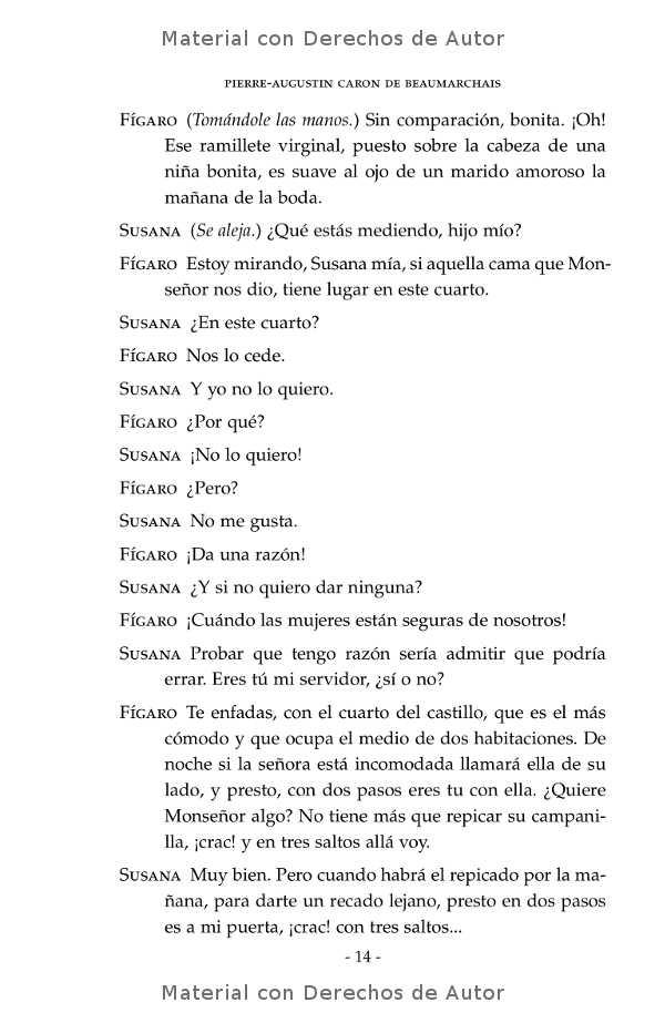 Interior del libro: El Casamiento de Fígaro de Beaumarchais 06
