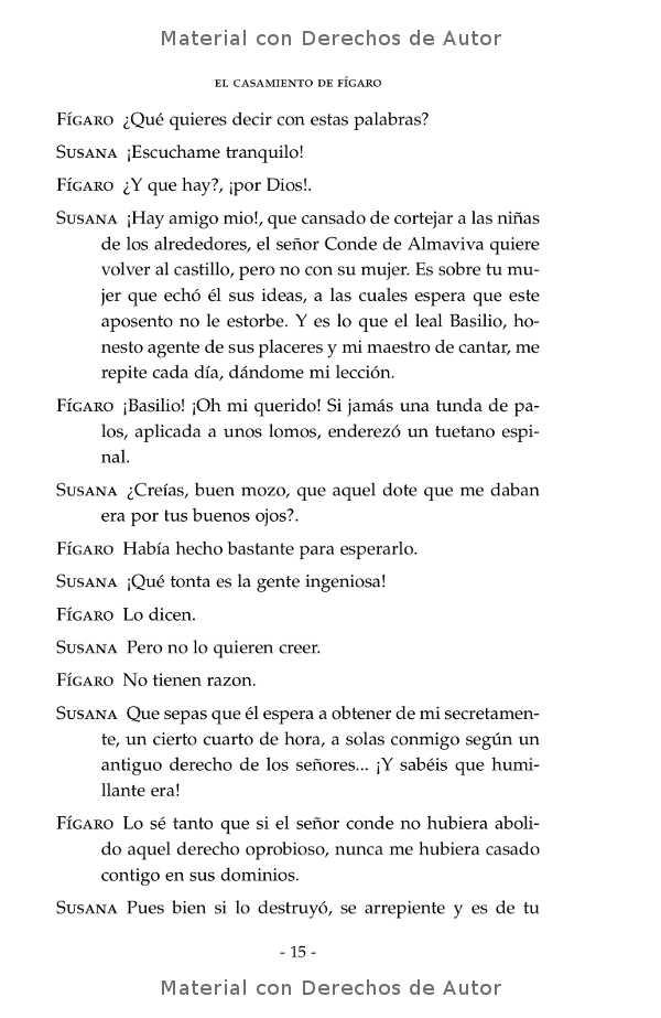 Interior del libro: El Casamiento de Fígaro de Beaumarchais 07