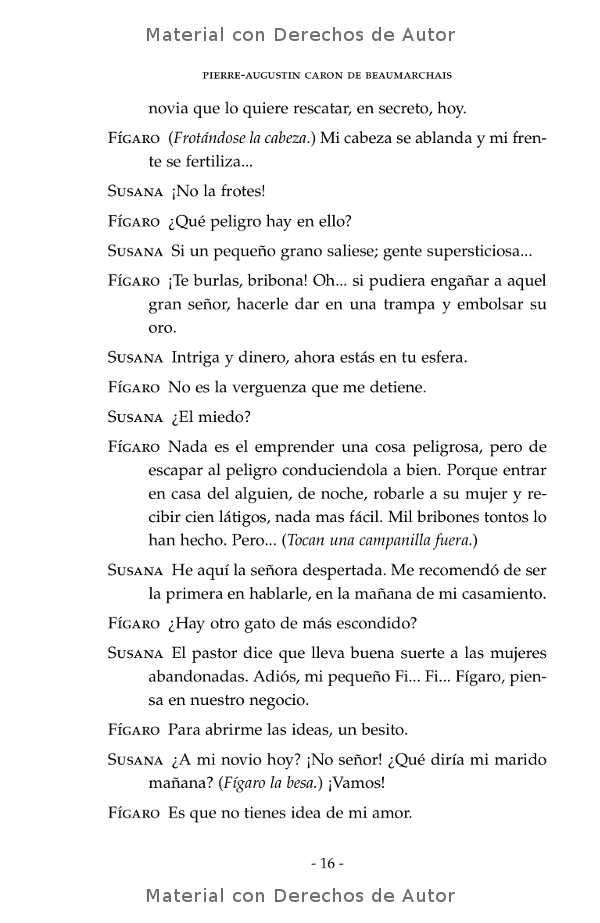 Interior del libro: El Casamiento de Fígaro de Beaumarchais 08