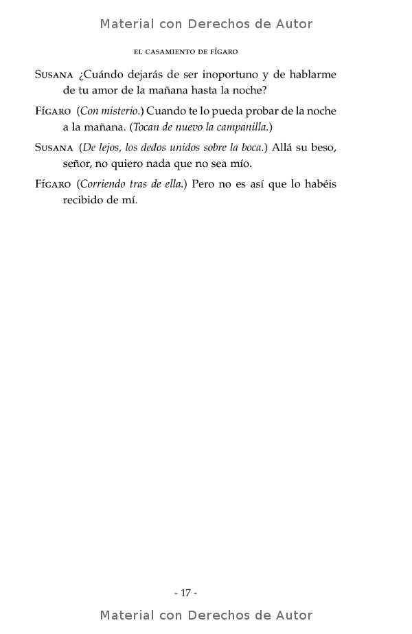 Interior del libro: El Casamiento de Fígaro de Beaumarchais 09