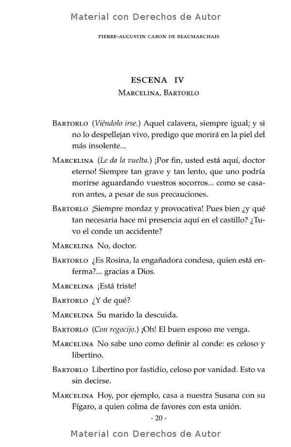 Interior del libro: El Casamiento de Fígaro de Beaumarchais 10