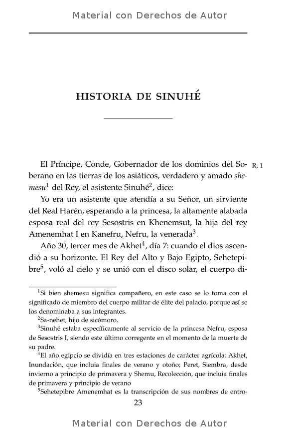 Interior del libro: Historia de Sinuhé 07