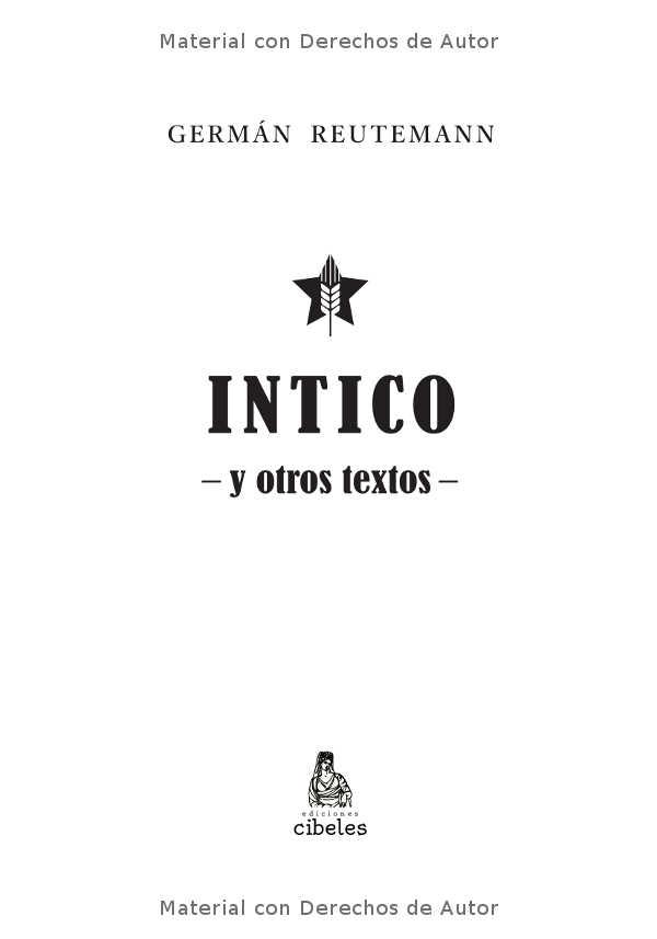 Interior del libro: Intico y otros textos de Germán Reutemann 01