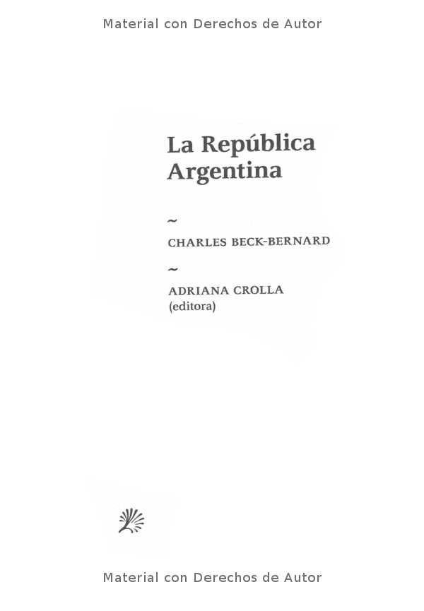 Interior del Libro: La República Argentina de Charles Beck-Bernard 01