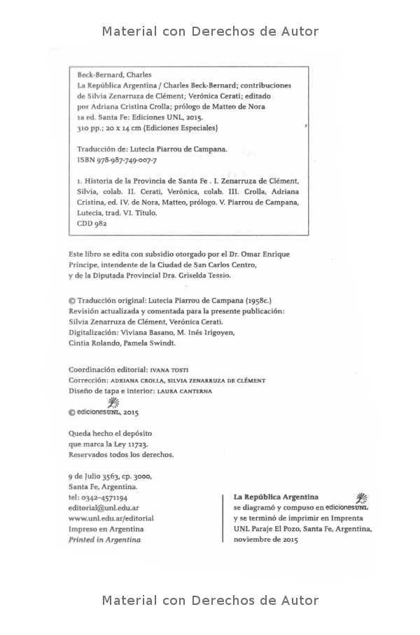 Interior del Libro: La República Argentina de Charles Beck-Bernard 02