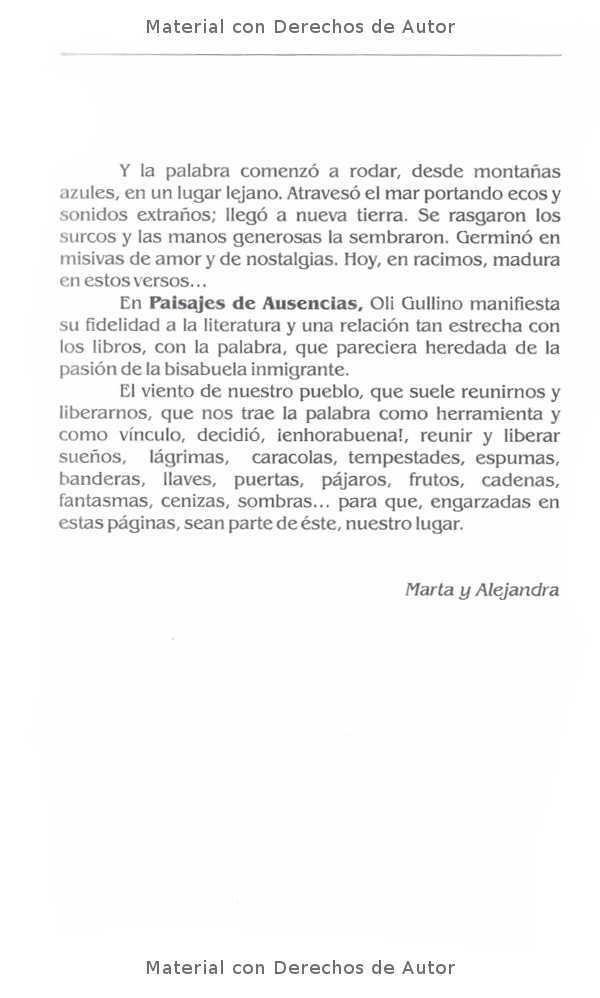 Interior del Libro: Paisajes de Ausnecias de Oli Gullino 03