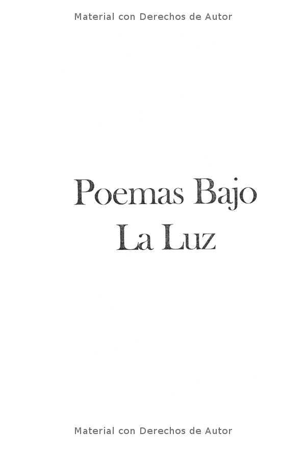 Interior del Libro: Poemas Bajo la Luz de Mirta Yngui 01