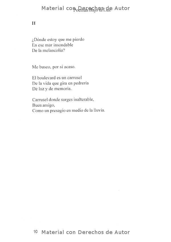 Interior del Libro: Poemas Bajo la Luz de Mirta Yngui 04