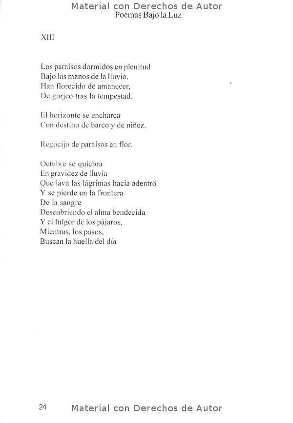 Interior del Libro: Poemas Bajo la Luz de Mirta Yngui 06