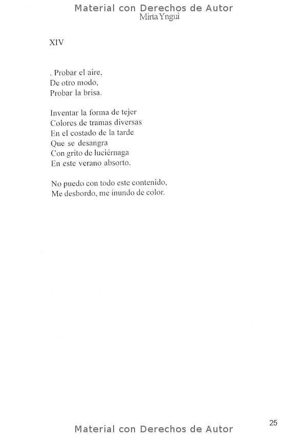 Interior del Libro: Poemas Bajo la Luz de Mirta Yngui 07