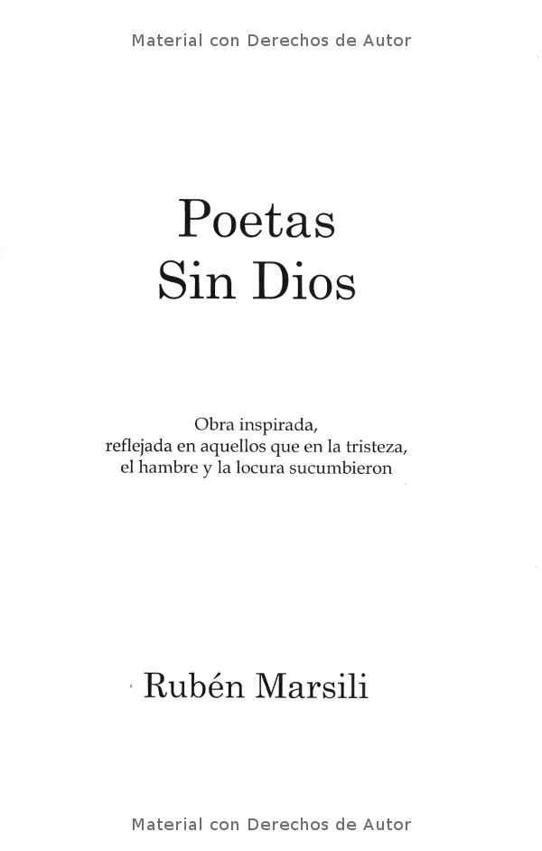 Interior del Libro: Poetas sin Dios de Rubén Marsili 01