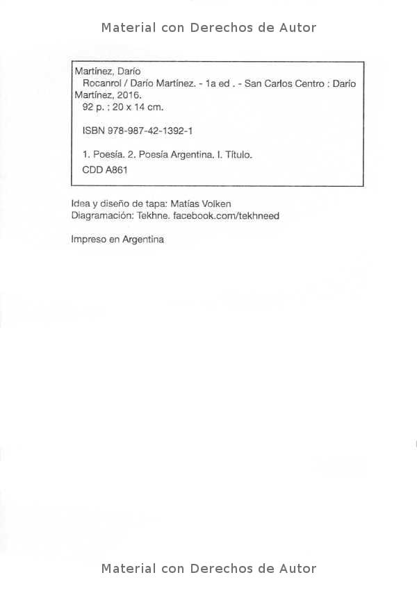 Interior del Libro: Rocanrol de Darío Martínez 02