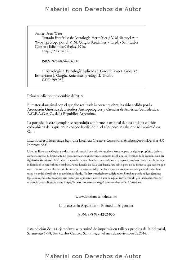 Interior del Libro: Tratado Esotérico de Astrología Hermética de Samael Aun Weor 02