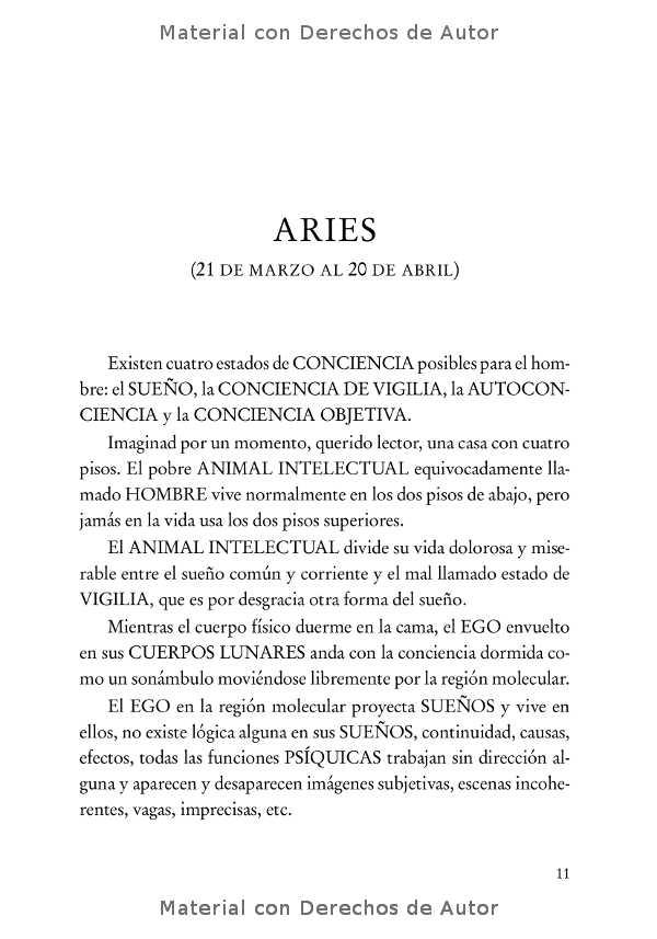 Interior del Libro: Tratado Esotérico de Astrología Hermética de Samael Aun Weor 04