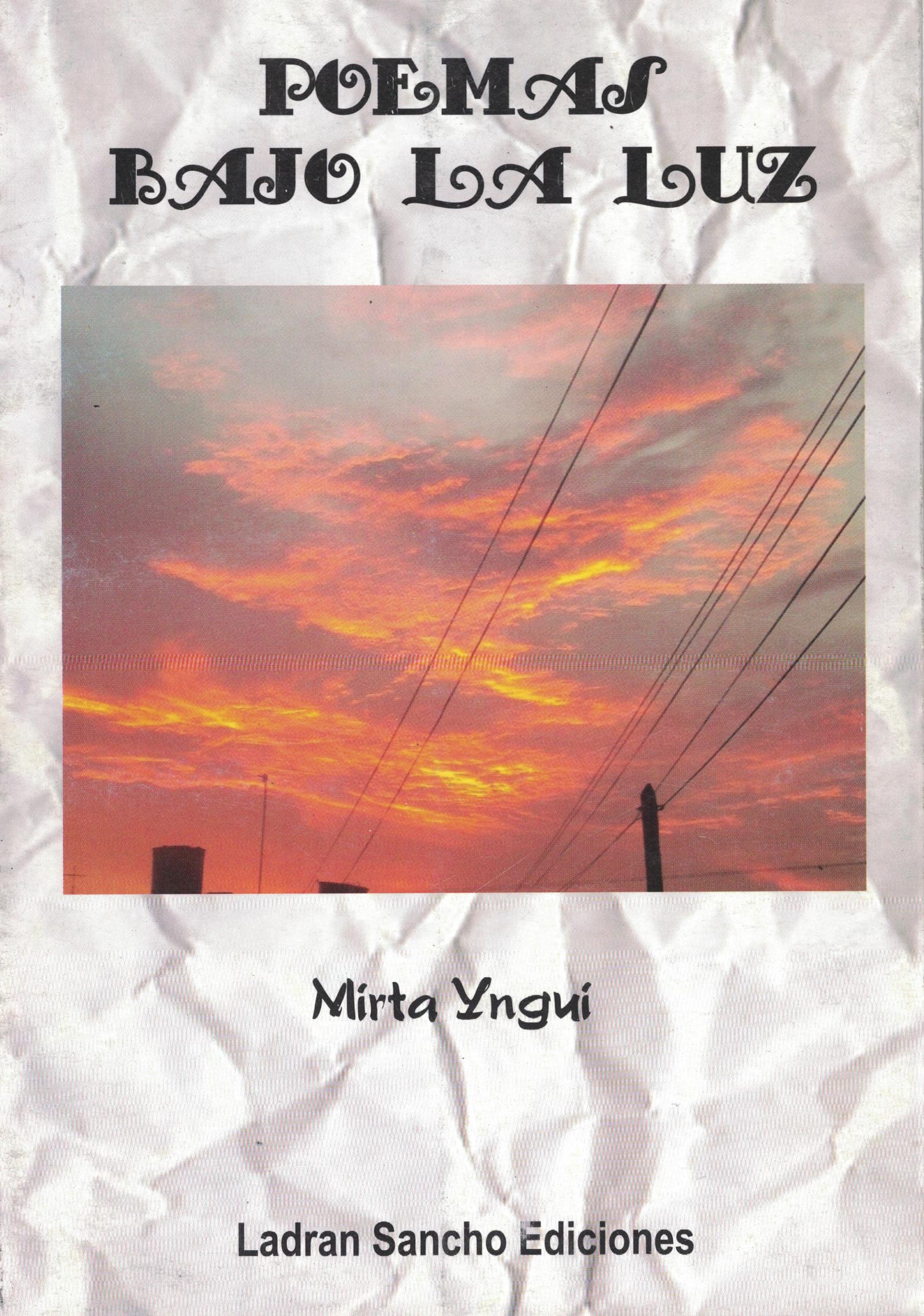 Tapa del Libro: Poemas Bajo la Luz de Mirta Yngui